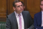 Moray MP Douglas Ross speaking in Parliament